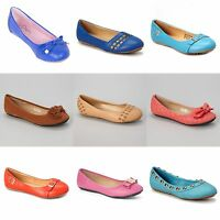 New Womens Lady Designer Comfort Slip On Ballet Flats Many Colors & Styles