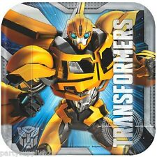 TRANSFORMERS PARTY SUPPLIES BEVERAGE PLATES PACK OF 8