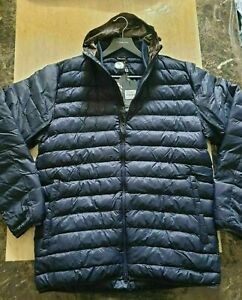 BNWT mens BARBOUR FIBRE DOWN Quilted Jacket hooded size XL RRP £180 .
