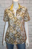 DANIELE ALESSANDRINI Brand Multi Cotton Short Sleeve Shirt Size M BNWT #TM108