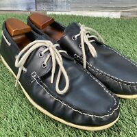 UK10 Red Herring Navy Deck Shoes - Casual Comfort Boat Moccasins - EU44