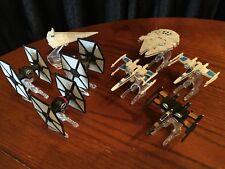 LOT of 8 Star Wars Hot Wheels Mattel Diecast Starship Vehicles