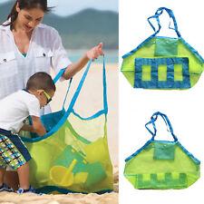 Large Portable Beach Storage Bag Family Kids Toys Sand Away Mesh Shoulder Bags