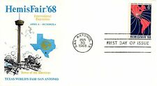 US FDC #1340 HemisFair '68, Cover Craft (6573)