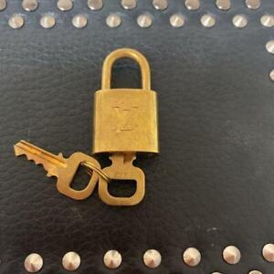 Authentic Louis Vuitton Lock and Key Set Padlock Gold
