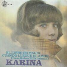 """KARINA - EL LIBRO DE MAGIA  - 7"""" SINGLE 45 RPM - ESPAÑA - SPAIN - 1967"""