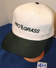 """PRO GRASS"" HAT. WHITE WITH EMBROIDERED LETTERING. SNAPBACK ADJUSTABLE. VGC!!"