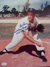 "CLEM LABINE Signed ""World Series Champs 1955 1959 1960"" 11x14 Photo JSA F00982"