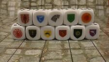 Game of Thrones a Pair of All 11 Houses 6d 2 sets 22 Dice Total