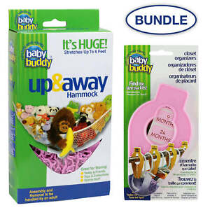 Baby Buddy Bundle Up and Away Hammock and Closet Organizers 5 count
