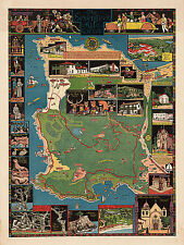 Pictorial Historical Map Shawmut Boston 1630 and 1930-300 years of progress