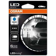 OSRAM LED 6800K Ice Blue W5W (501) 12V 1W 2850BL-02B Interior Retrofit NEW TWIN
