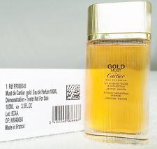 Must De Cartier Gold Perfume by Cartier - 3.3 oz 100 ml EDP Spray Tester NEW