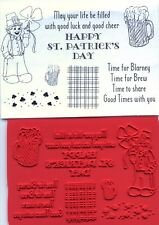 unmounted rubber stamps  St. Patrick's Day/Leprechaun  8 images
