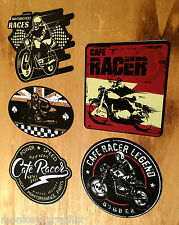 5 teil. Bobber Cafe Racer Set Oldschool Aufkleber British Bike Vintage Sticker