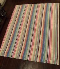 Pottery Barn Twin Duvet Cover Striped Multi Colored High Quality Nice Colorful