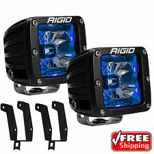 Rigid Radiance Pod Blue Back Light Fog Light for 99-16 Ford F250 F350 Excursion