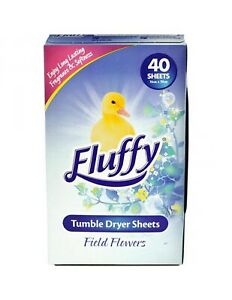 Fluffy Field Of Flowers Dryer Sheets 40 Pack