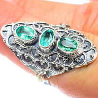 Large Zambian Emerald 925 Sterling Silver Ring Size 6.5 Ana Co Jewelry R54176