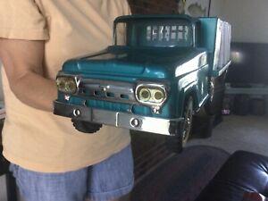 Vintage Tonka Truck Tonka Toys Pressed Steel Truck and Trailer 1960.