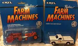 Case IH Farmall F20 & Case Vac Historical Tractor Set Ford F250 Case IH 1/64 NIB