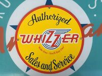 classic WHIZZER sales AND SERVICE porcelain coated 18 GAUGE steel SIGN