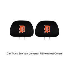 New Team ProMark MLB Detroit Tigers Head Rest Covers For Car Truck Suv Van