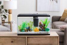 New listing 10 Gallon Aquarium Fish Tank Starter Kit Clear Glass With Led Lighting Decor