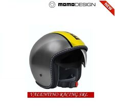 CASCO NEW MOMO DESIGN BLADE GLOS METAL YELLOW TG. S CON VISIERA PARASOLE