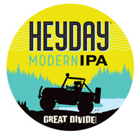 GREAT DIVIDE BREWING CO HEYDAY Modern IPA Sticker 4in Brewery