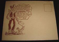 1951 Bob Petley Perfume Of The Old West Corral #5 Souvenir Letter ~ RARE HUMOR