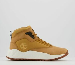 Mens Timberland Solar Wave Mid Hiker Boots Wheat Nubuck Casual Shoes
