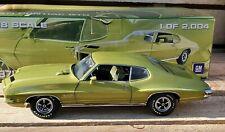 GMP 1971 Pontiac GTO 455 1:18 Scale Diecast Model Car LE #489 of 2004 Lime