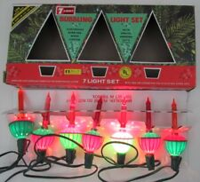 Vintage Beacon Christmas Bubble Set 7 Light Original Box Works True Vintage c