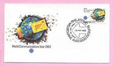 AUSTRALIA - FDC 1983 - WORLD COMMUNICATIONS YEAR - Fdi MELBOURNE Bureau