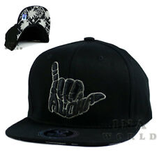 ad491535acc ALOHA HAWAII Hawaiian hat cap Snapback Flat bill Cotton Baseball cap- Black