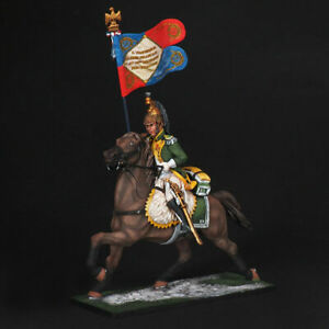 Tin soldier, French dragoon standard bearer of the 23rd regiment, Napoleonic war
