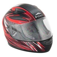 Stealth HD127 Razor Kids Children Youth Full Face Motorcycle Motorbike Helmet