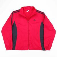 Vintage ADIDAS Red & Black Mesh Lined Sports Track Jacket Size Men's Small