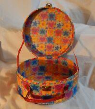 "8"" Diam. Circular Elmo Face Box Case Suitcase Sewing Sesame Street Handle Rare"