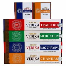 Orkay Vedika Incense and Cone set (4 Pkt of 15 sticks each Natural Agarbatti
