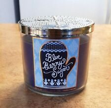 1 BATH & BODY WORKS BLUEBERRY SUGAR 14.5 oz 3 WICK SCENTED CANDLE