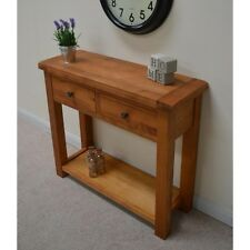 Oak  Console Table 2 drawers with Shelf / Hallway Telephone Table / New Beaufort