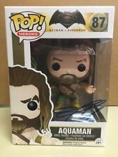 Jason Mamoa Dual Signed Auto Aquaman Funko POP! #87 With COA