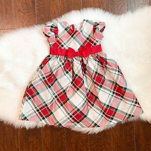 Gymboree Girls Christmas Red, Green, White Formal Dress - 2T