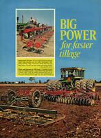 1971 Nice Pic of John Deere 5020 Tractor International Harvester 480 Disk Harrow