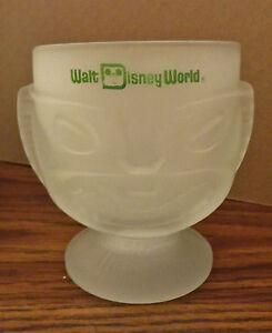 Walt Disney World Polynesian Village Satin Tiki Bar Glass Footed Double Face Mug