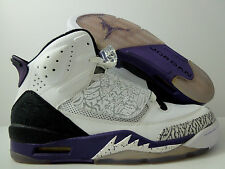 NIKE AIR JORDAN SON OF MARS WHITE-CLUB PURPLE-GREY-BLACK SZ 10.5 [512245-106]