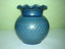 Vase Wilhelm Kagel Keramik Blau Ritzdekor Willi Garmisch Partenkirchen WKP Blue