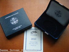 NO COIN: 2010 W PROOF SILVER EAGLE BOX/COA OGP ONLY BUY 2 GET 3RD FREE!!